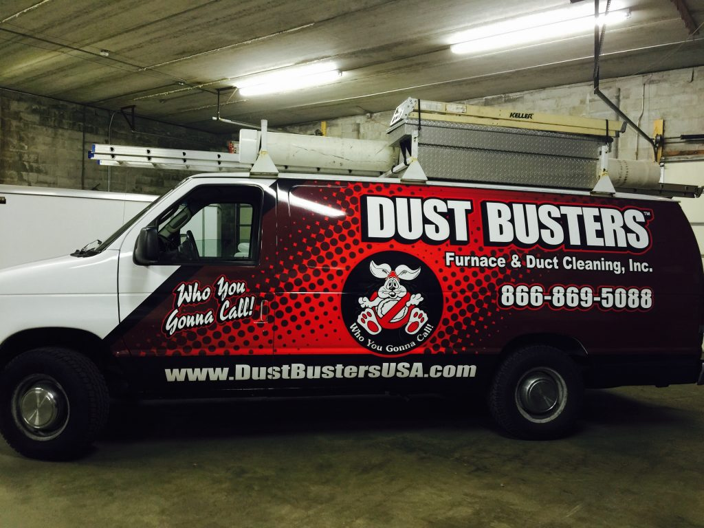 dust busters duct cleaning van